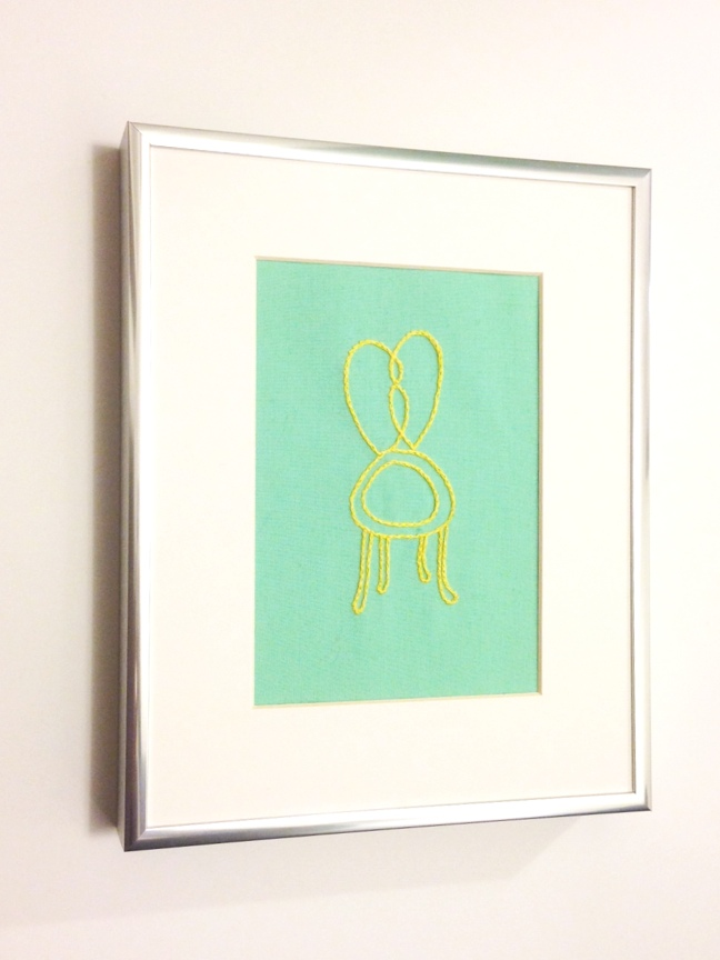 framed chair embroidery