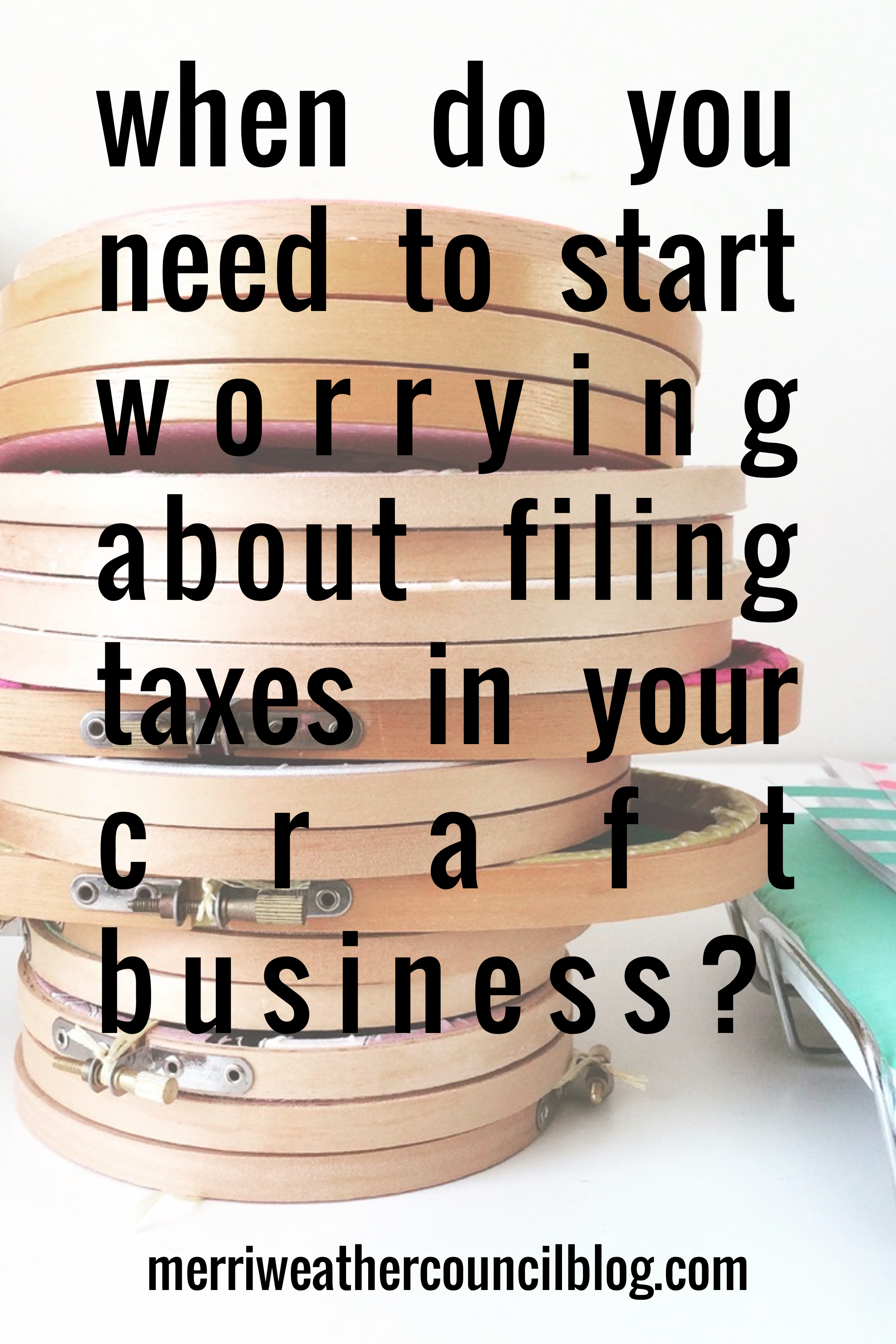 Paying Taxes On Craft Sales