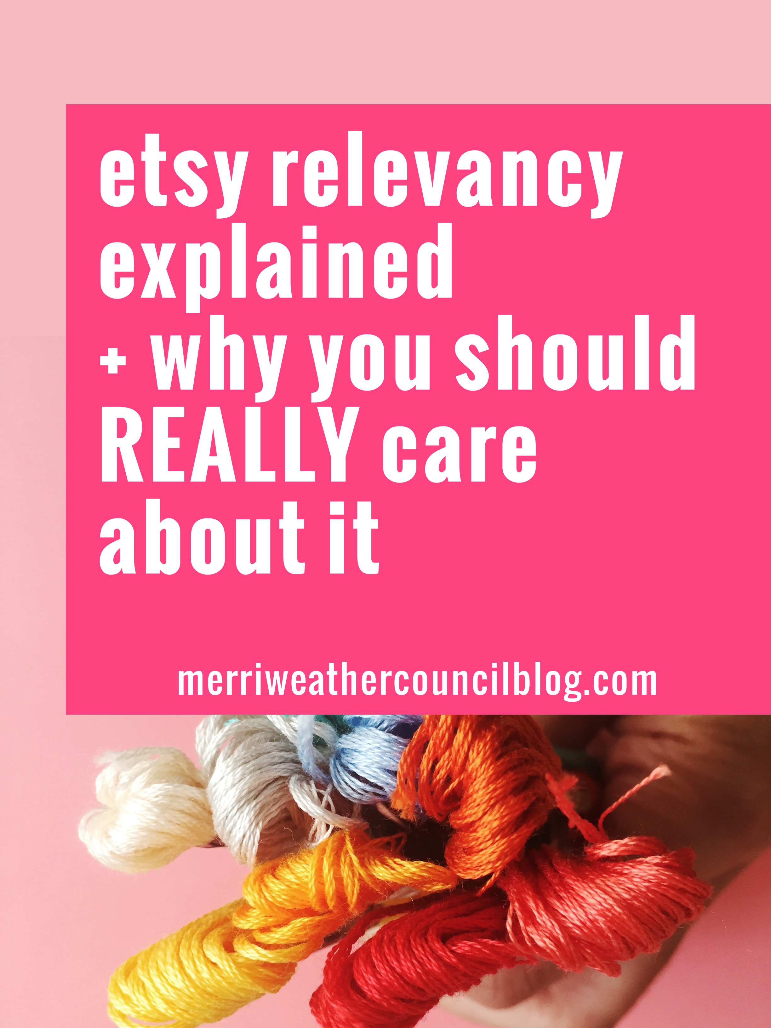 etsy relevancy explained | the merriweather council blog