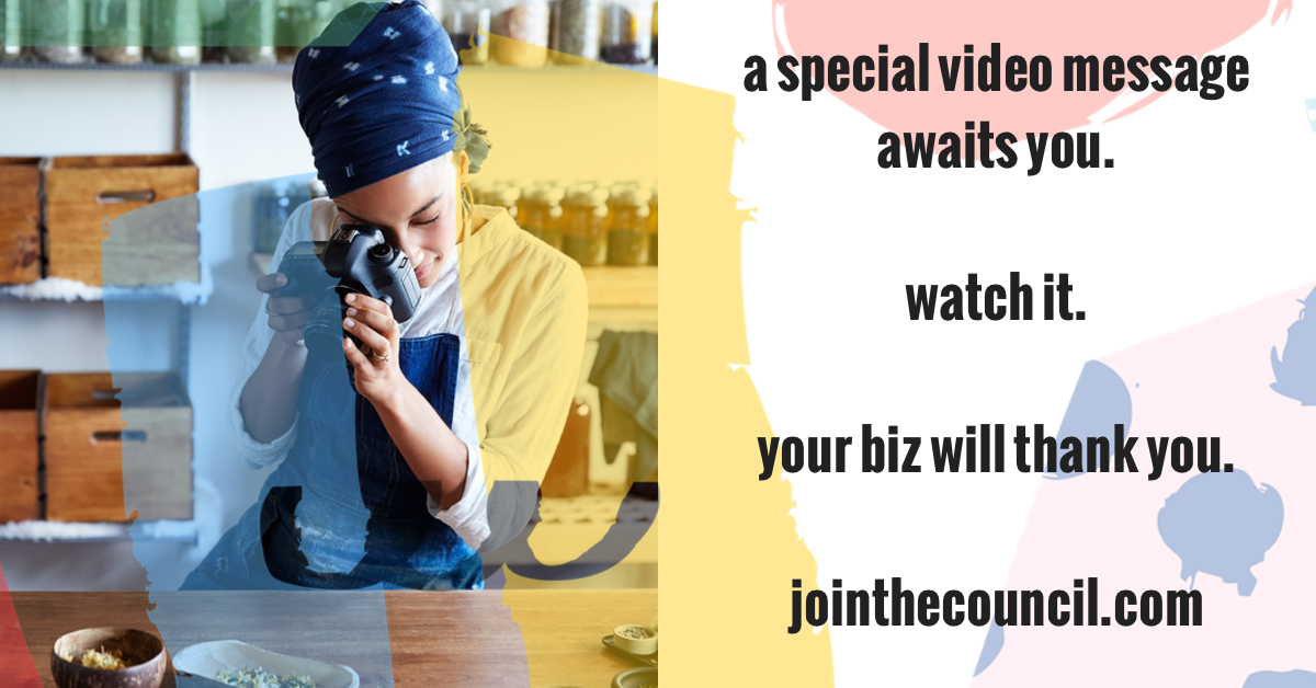 A special video message awaits you. Watch it. Your biz will thank you. | the merriweather council blog