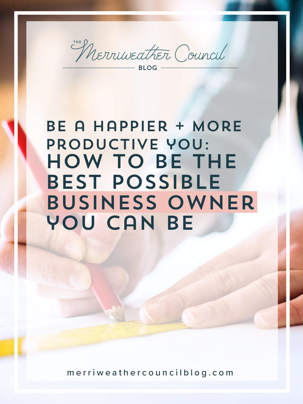 When you are able to be the best you, you can be a productive business owner. How can you stop being deflated-you and get back to being creative-you? Stop putting more work on yourself, save more time, and join The Council to learn how to be a productive business owner. | The Merriweather Council
