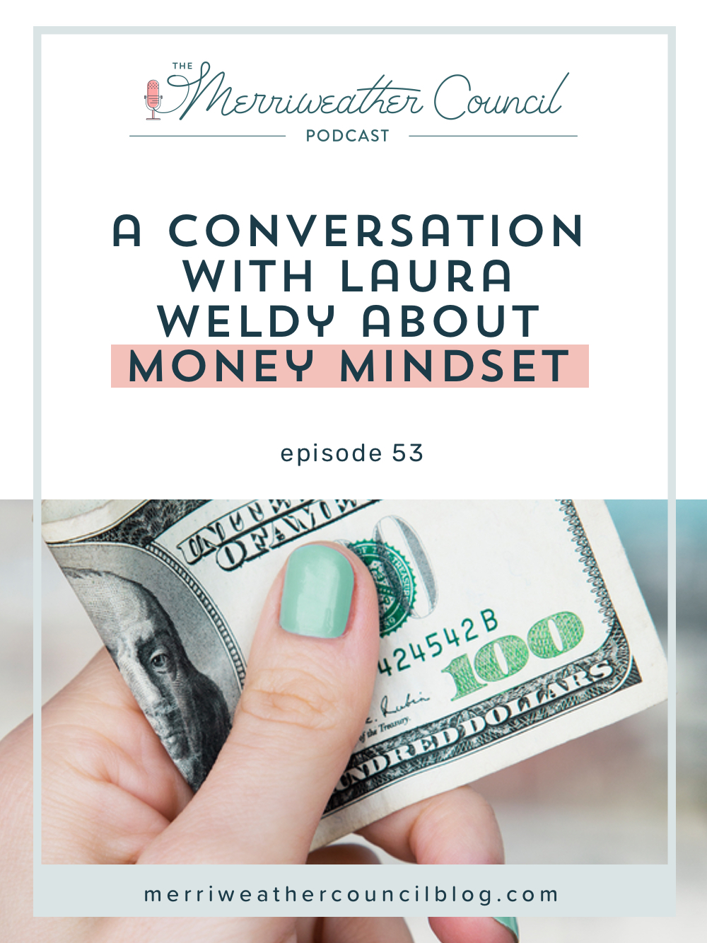 In this episode of the Merriweather Council Podcast Laura & I explore the social factors that play into our money mindset and our approach not only to earning money but people who we think do or do not have money. We also spoke about how gender plays a part - or doesn't. | The Merriweather Council Blog