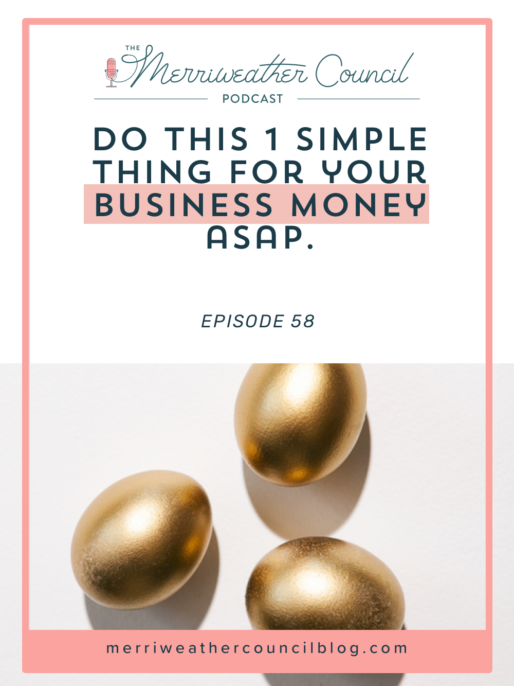In business, money management is a necessary evil. Money can be motivating and it's really great to be able to see what you've gained and lost without a huge amount of struggle shuffling through transactions. Listen to this episode for 1 simple money management trick you can do this weekend for better visibility. | The Merriweather Council Blog