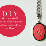DIY Embroidered Necklace Pendant