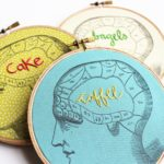 Personalized Phrenology Embroidered Hoops