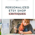 Personalized Etsy Shop Critiques
