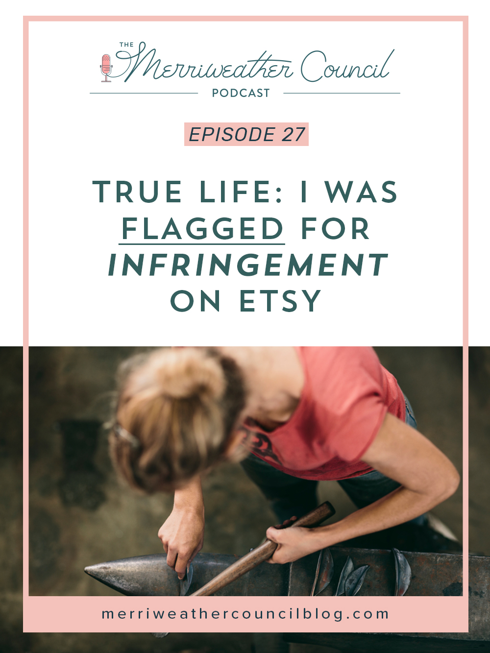 true life I was flagged for infringement on etsy | the merriweather council podcast