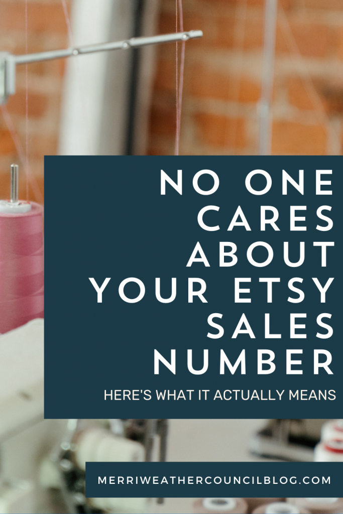 etsy sales number title graphic | Merriweather council podcast episode 144